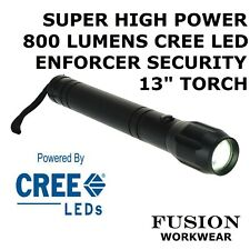 CREE LED TORCH 3 X D CELL BATTERY POWER, 800 LUMENS, LITE ALUMINIUM / MAG BODY