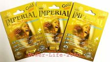 3x IMPERIAL Powerzen Gold 2000 Male Sexual Performance Enhancement 100% ORIGINAL