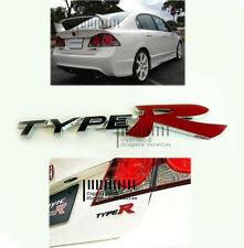 ★ 3D Metal ✓ Chrome Type R Logo RED Emblem Badge Sticker for Cars: Self-Stick  ★