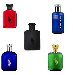Ralph Lauren Polo Cologne for Men, Choose Green, Red, Blue, Sport, Double Black
