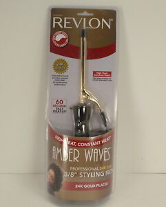 """Revlon Amber Waves 3/8"""" Curling / Styling Iron 60 Fast Heat Up - New"""