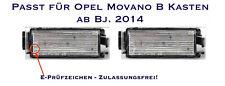 LED SMD Kennzeichenbeleuchtung Opel Movano B Kasten ab Bj. 2014  (06)
