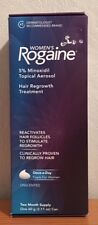 NIB Women's Rogaine Hair Regrowth Treatment 5% Minoxidil Unscented 2 Mo Supply