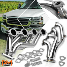 For 99-05 Chevy Silverado/Gmc Sierra/Yukon Stainless Steel Shorty Exhaust Header (Fits: Gmc)