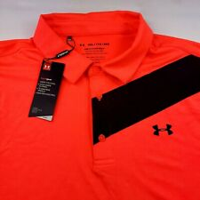 Under Armour Performance Playoff Golf Polo Shirt Striped Xl, 2Xl
