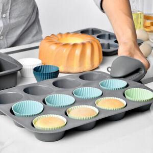 Morandi Color Round Cake Mold Baking Egg Tart Silicone Muffin Cup Baking M^lk