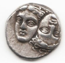 ISTROS in Thrace Gemini Dioscuri 400BC Ancient SILVER Greek Coin EAGLE