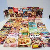 Cookbook Lot 30 Recipe Booklets - Pillsbury Betty Crocker & More 1980's - 2000's