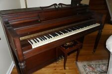 ANTIQUE CHICKERING CONSOLE UPRIGHT PIANO