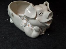 Fitz and Floyd Happy Pig Vegetable Serving Bowl French Market 1983
