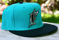 New Era Florida Miami Marlins VINTAGE TURQUOISE MLB Baseball Hat SIZE 7 PRO Cap