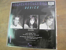 DEVICE 22b3 LP  With Inner US Chrysalis RECORDS 1986