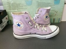 UNISEX LILAC PURPLE CONVERSE ALL STAR HIGH TOPS Size 6 UK