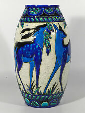 Charles CATTEAU Belgien Art Deco Keramik ° Gazellen ° Boch Louviere 1925