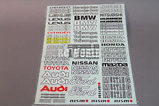 RC Car Truck RACING Drift  DECALS STICKERS Logos Sponsors BMW, AUDI, FORD  *NEW*
