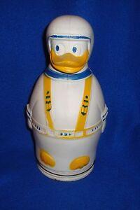 "Vintage Disney Productions Donald Duck Plastic Nabisco Wheat Puffs Bank 12"""