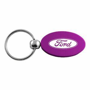 Ford Key Ring Purple Oval Keychain