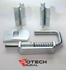 20mm Weld-On Hinge, 20mm Slam Latch & Striker Plate Kit for Cattle Gate or Crush