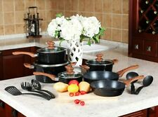 Kitchen Academy 15 Piece Aluminum Non-Stick Cookware Set - New!