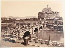 ANTIQUE PHOTO OF CASTLE OF THE HOLY ANGEL. ST ANGELO SPAIN.