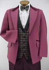 Retro 4pc Light Burgundy Prom Tuxedo emo Vintage 34R