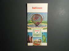 """VINTAGE 1964 SINCLAIR OIL CO. ROAD MAP, """"BALTIMORE""""     UNITED STATES"""
