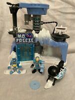 Imaginext Mr Freeze Lair With Batman And Gun, Snowmobile And Shooting Disc