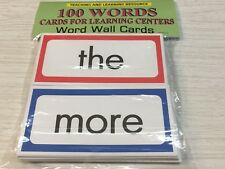 100 WORDS - Cards for Learning Center - 100 Cards- Word Wall Teaching supplies