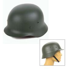 Green WW2 German Elite WH Army M35 M1935 Steel Helmet Stahlhelm Retro Solid