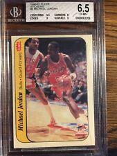 Michael Jordan 1986 86-87 Fleer Sticker Rookie RC #8 Beckett [9,9,8,5.5]