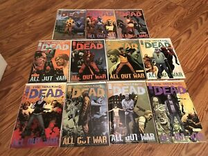 Image Comics The Walking Dead All Out War Lot 116-126 Carl Rick Michonne TWD