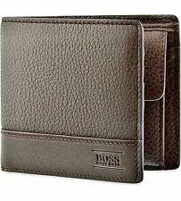 "NUOVO Designer HUGO BOSS ""aspen_trifold"" WALLET 50322175 BROWN"