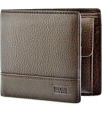 """New Designer Hugo Boss """"Aspen_Trifold"""" Wallet 50322175 Brown"""