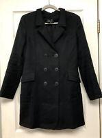 Theyskens Theory Womens Black Overcoat Long Peacoat S  J2