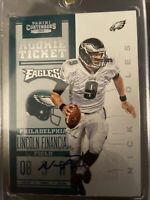 2012 CONTENDERS NICK FOLES Auto Rookie Ticket