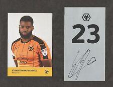 Hand Signed Number 23 EBANKS LANDELL Wolves Wolverhampton Wanderers Football