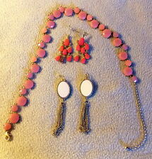 "One Necklace and Two Sets of Earrings - ""Charming Charlie"" Brand"