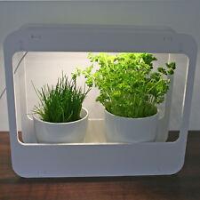 LED Designer Mini Gewächshaus weiß Zimmergewächshaus Treibhaus Kräuter-Garten