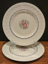 "2 Wedgwood Corinthian Evenlode Dinner Plates Made in England 10-3/4"""