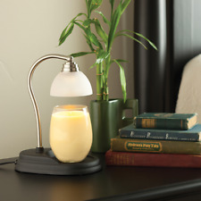 Candle Warmer Etc Aurora Pewter Fragrance Lamp Uses Safe Halogen to melt the wax