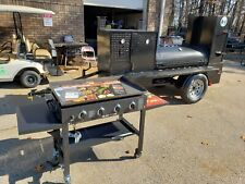 Pro Pitmaster BBQ Smoker 36 Grill Trailer with Blackstone 36 Griddle Food Truck