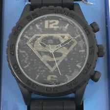 Superman DC Comics Analog Watch Silicone Band With Collectible Tin NEW