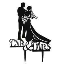 Silhouette de gâteau de mariage Topper Bride and Groom et MR & Mrs