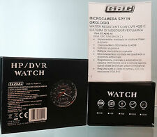 GBC 67429018 MICROCAMERA SPY IN OROLOGIO WAYER RESISTANT DVR 4GB E VIDEOSORVSYST