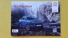 Toyota Hilux Active Icon Invincible X brochure sales catalogue January 2017 MINT