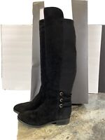 Vince Camuto Medium Calf Pauletta Tall High Knee Boots Black Suede Leather 6.5W