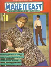 80s Make It Easy Sewing Pattern No.11 Blouse Drawstring Trousers Size 8-16