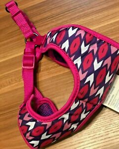 Dog Harness Adjustable Pink White  Comfort Top Paw Large Medium Small Puppy Pet