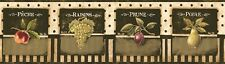 1Roll Wallpaper Border York PA5530BD Vintage Fruit Prepasted 5yds DX17/10