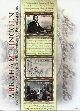 Gambia 2012 MNH Abraham Lincoln Emancipation 4v M/S US Presidents Stamps
